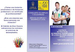 El Cabildo de Gran Canaria subvenciona la contratación de personas con titulación
